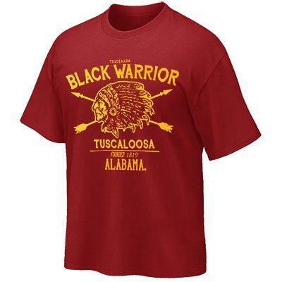 T-Shirt Black Warrior Tuscaloosa Founded 1819 (SKU 12811175102)