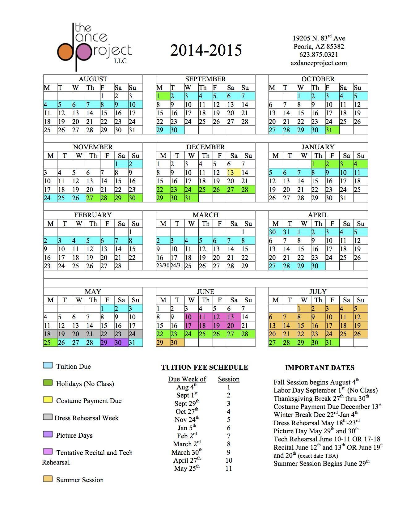 Asu Academic Calendar 2015 Calendar Template 2016 News To Go