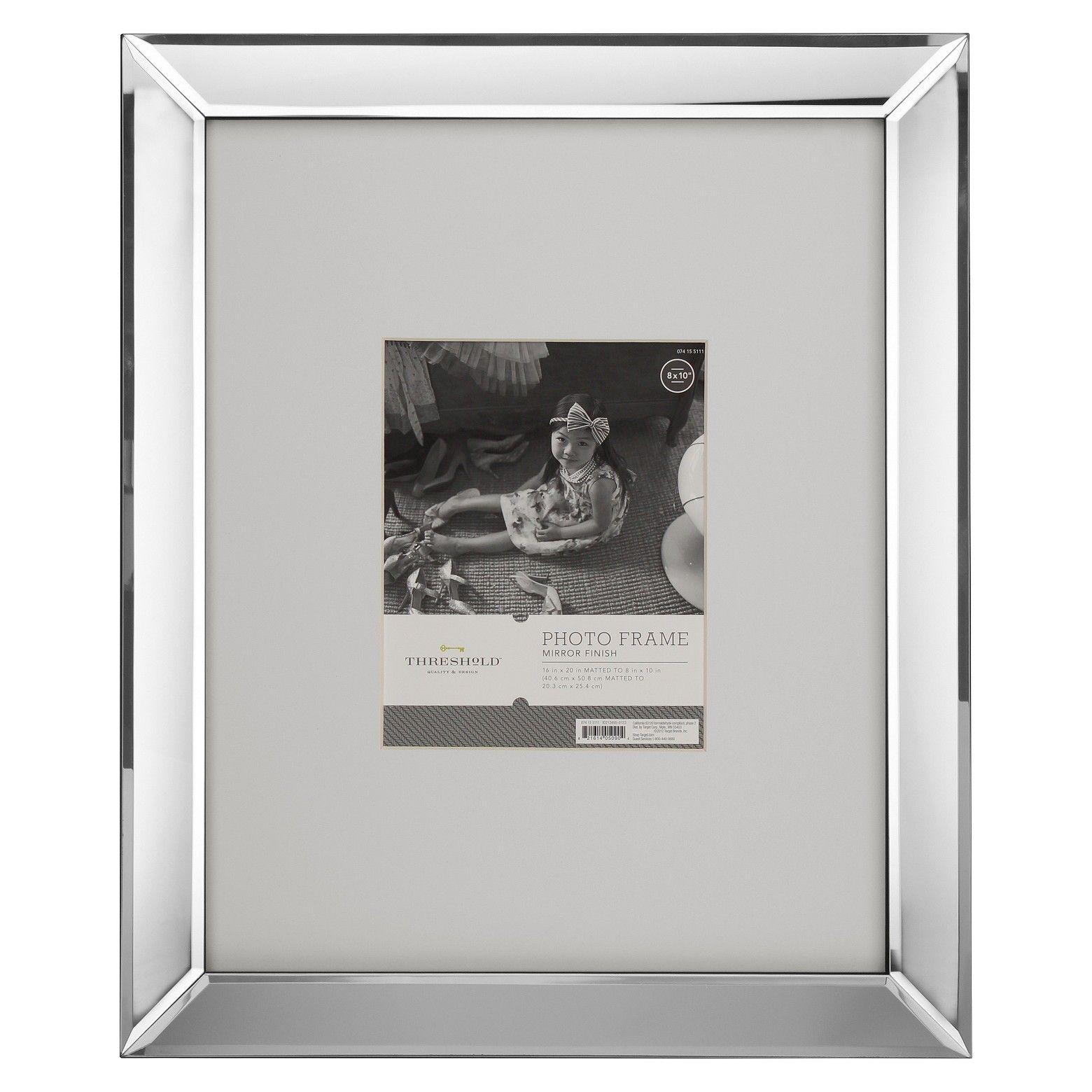 Target Threshold Mirrored 8x10 Frame Mirrored Picture Frames Picture Frames Mirror Frames