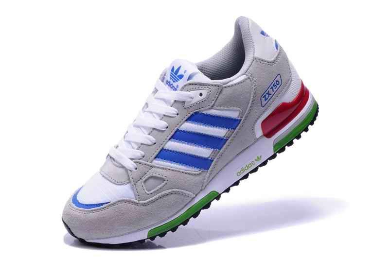 adidas zx 750 gris y azul