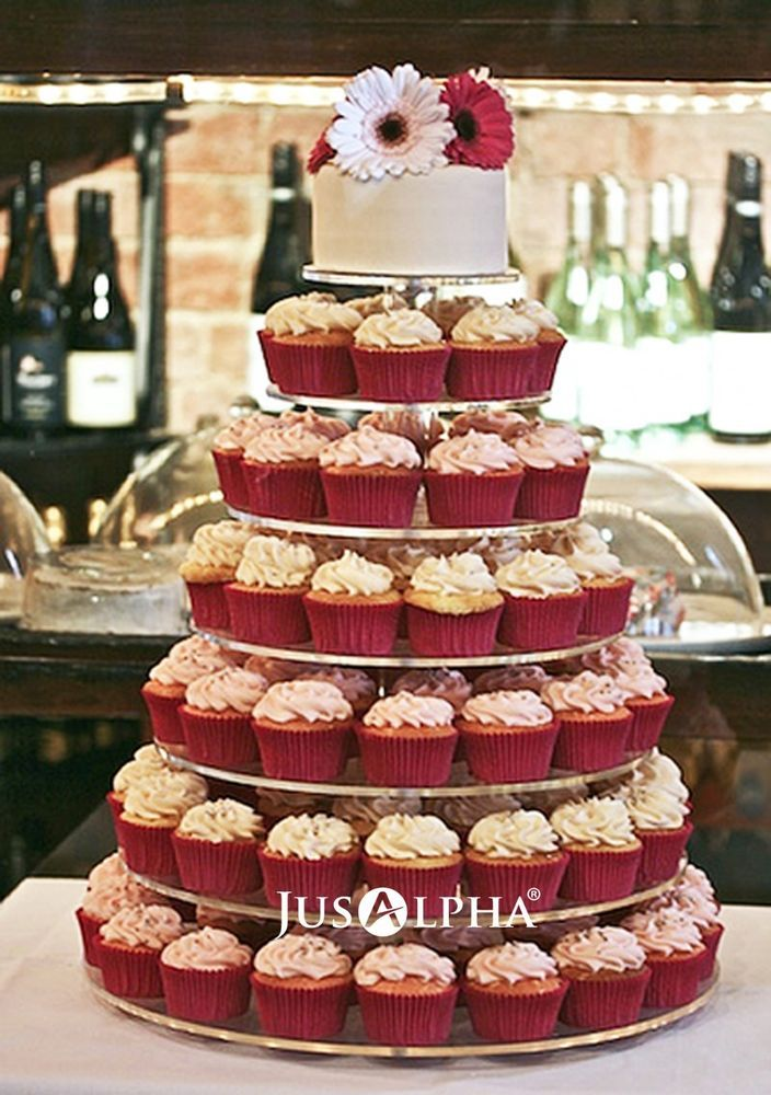 Details About Large 7 Tier Clear Acrylic Round Square Wedding
