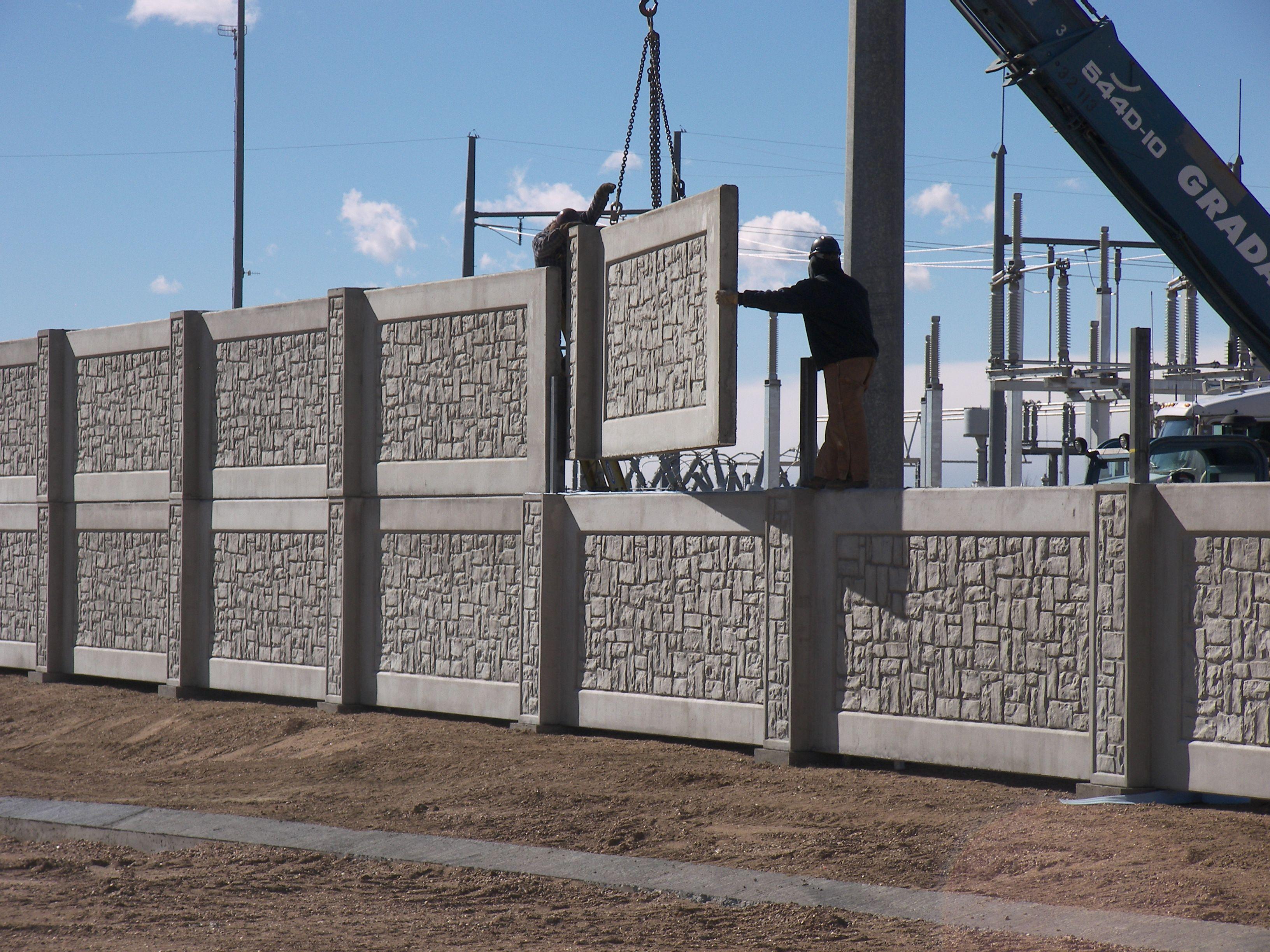 Security Fences And Security Walls Aftec Vallas De Seguridad Valla De Ladrillo Hormigon Prefabricado