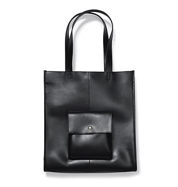 Joe Fresh Women S Pocket Tote This Bag Is 100x More Amazing In Person Really Stiff Nice Leather And Perfect Geometries