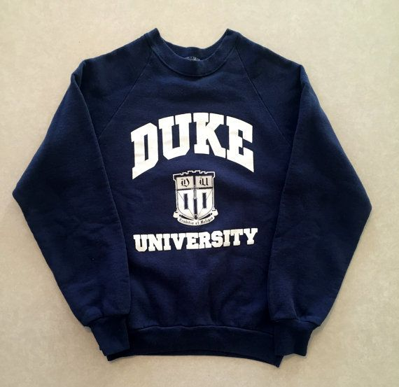 6f327a54e16e Vintage 80s   90s Duke University Blue Devils Crewneck Sweatshirt ...