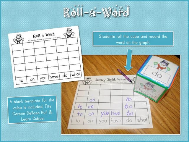 Students roll the cube and record it on the graph Teaching Ideas