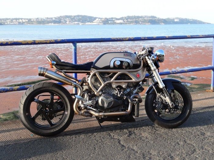 the donor is a honda vtr firestorm with a hayabusa front end and a
