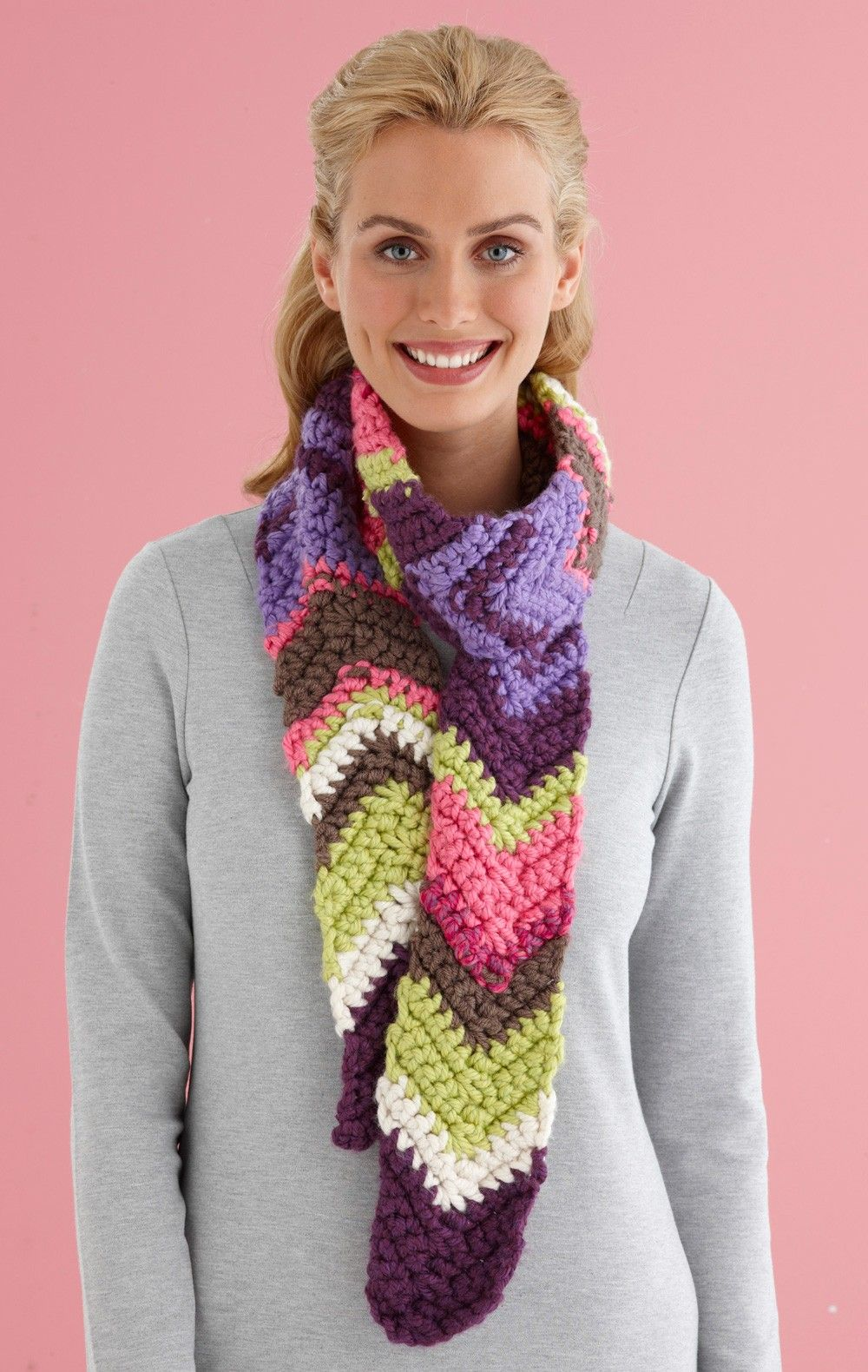 Confetti Ripple Scarf (Crochet) | Crochet clothing | Pinterest