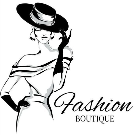 Girl with fashion background design vector 07 Advertising