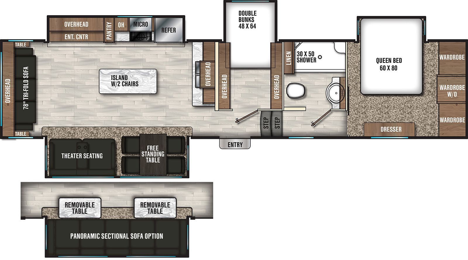 Coachmen Chaparral 360ibl Rv Floor Plans Floor Plans Kitchen Island Plans