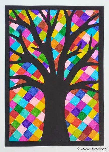 Favoriete Juf Jaydee: Boom - 'glas in lood' | výtvarná výchova - Art lessons #JK27