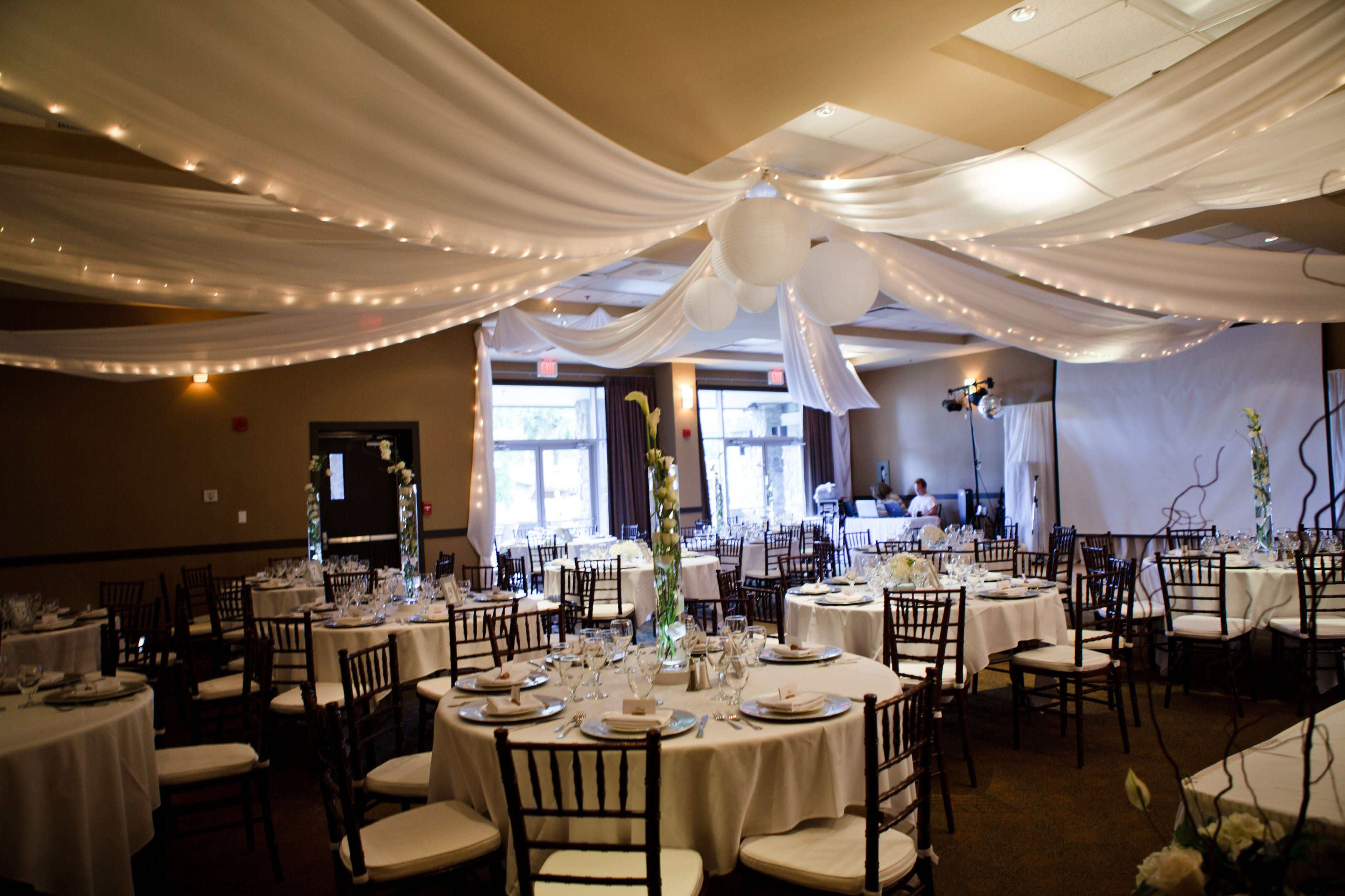 Parksville Beach Club Ceiling Treatment by Bliss Gowns & Events ...