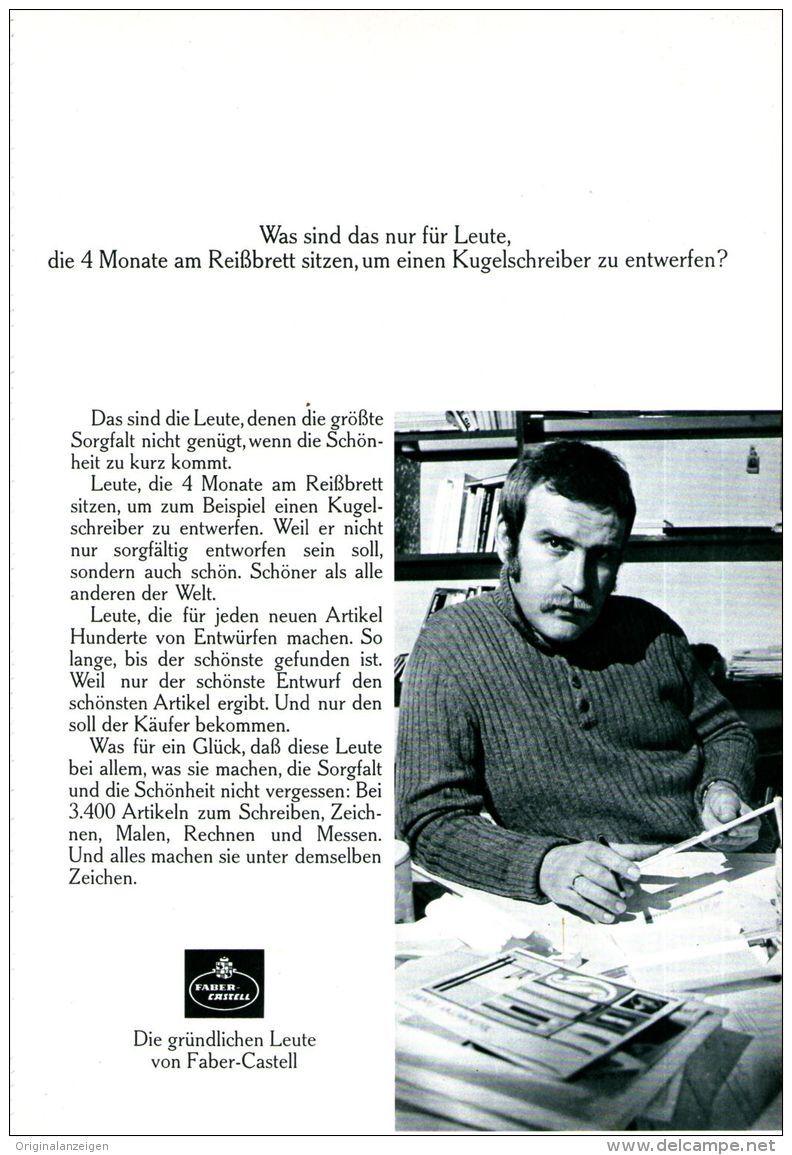 Original-Werbung/ Anzeige 1970 - FABER - CASTELL - ca. 180 x 240 mm