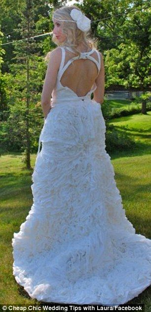 Chic Toilet Paper Wedding Gown