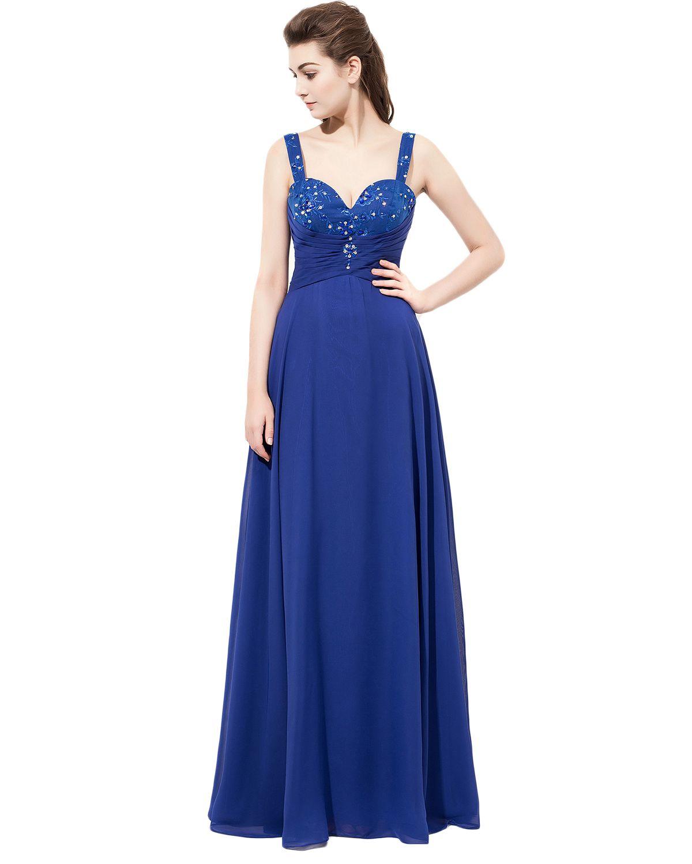 Unique beaded bridesmaid dressesroyal blue bridesmaid dress