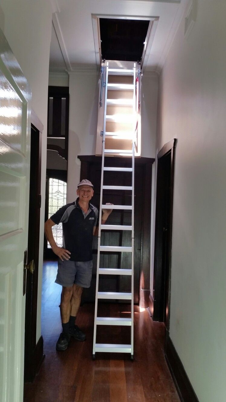 Quality Aluminum Attic Ladder Installed To A 33 Metre