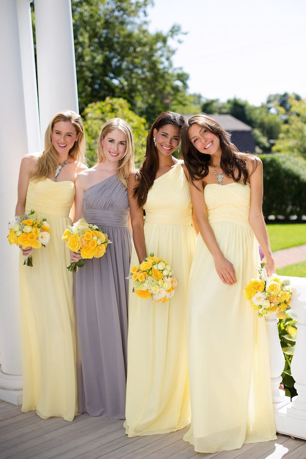 Wedding Yellow Bridesmaid Dress