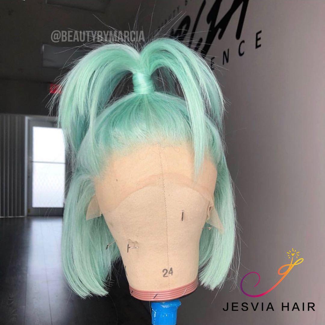 Stunning light blue bob wig. it is amazing. Love t