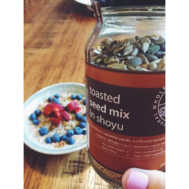 New addition to my morning oats  #overnightoats #oats #breakfast #seeds #seedmix #vegan #realgoodfood #Padgram
