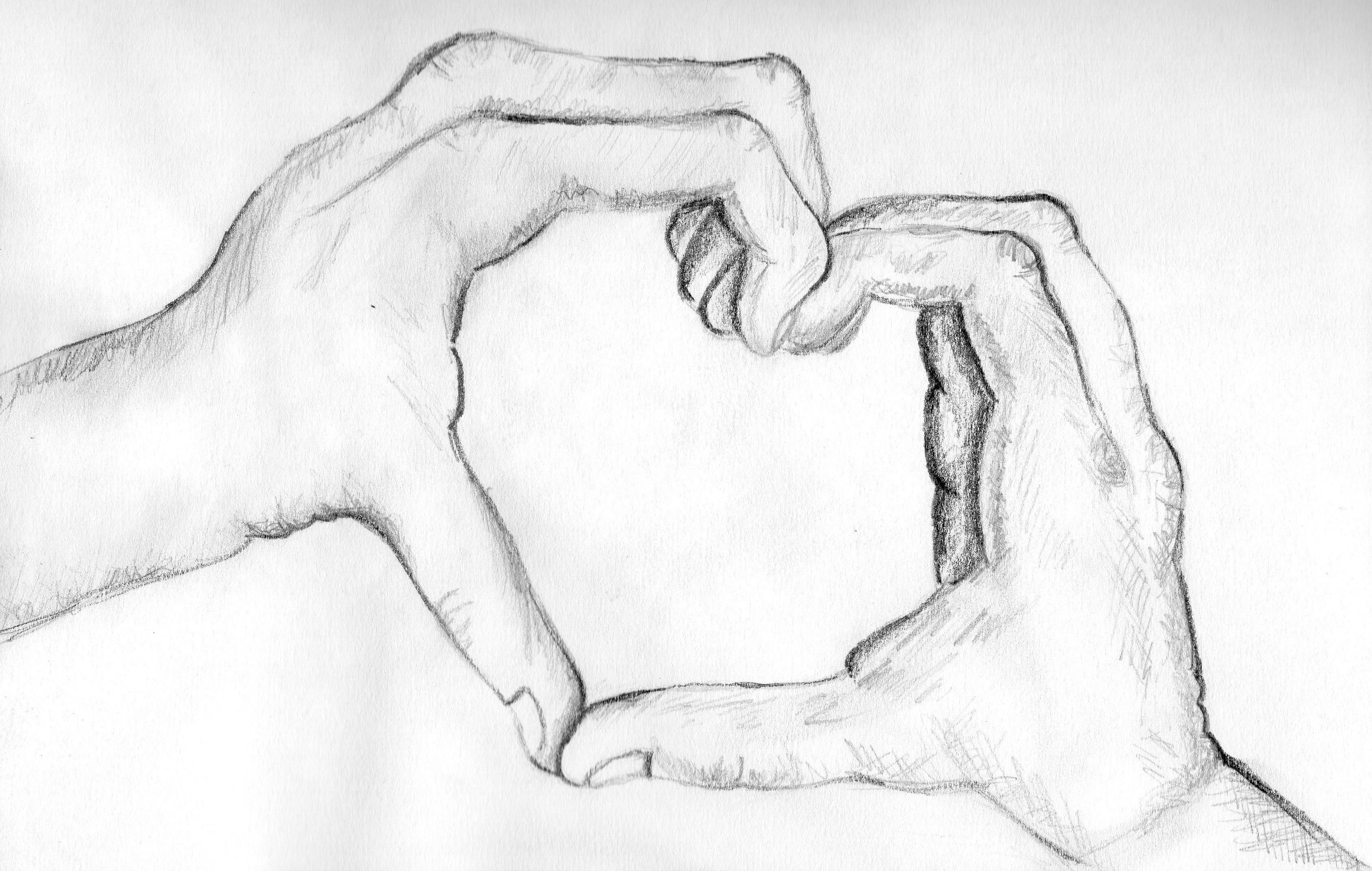 Pencil sketch of love heart hands couple drawing in 2019 pencil