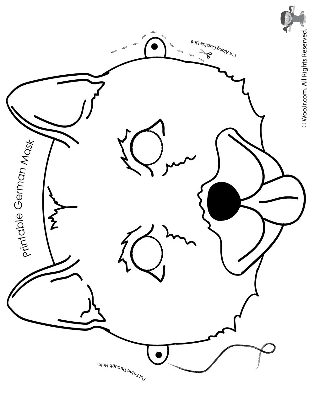 graphic relating to Printable Dog Masks referred to as Printable Canine Masks inside 6 Alternative Breeds! Youngsters Crafts