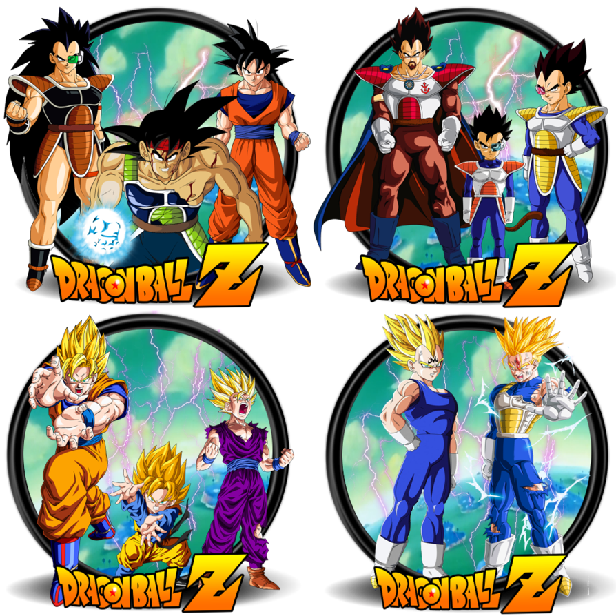 Dbz Fathers N Sons Icons Collection Icon Collection Dragon Ball Super Dragon Ball Z