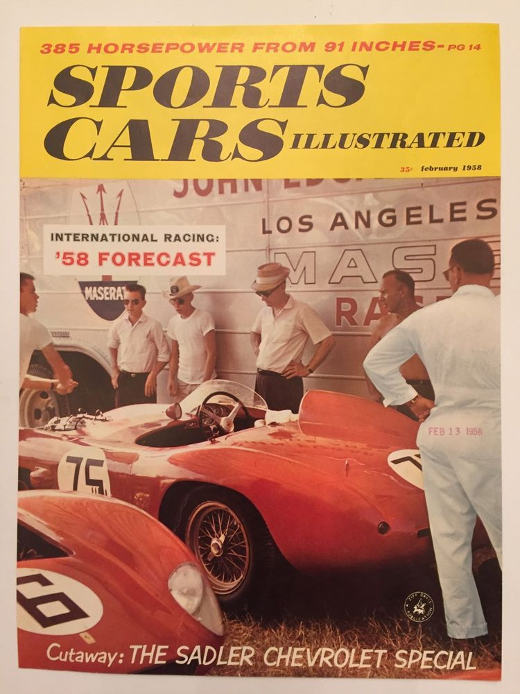 1958 Sports Cars Illustrated Magazine Sadler Chevrolet Ferrari ...