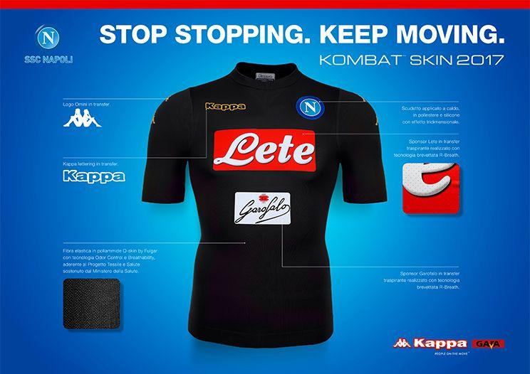 Camisas do SS Napoli 2016-2017 Kappa Terceira frente ccd9e321927a4