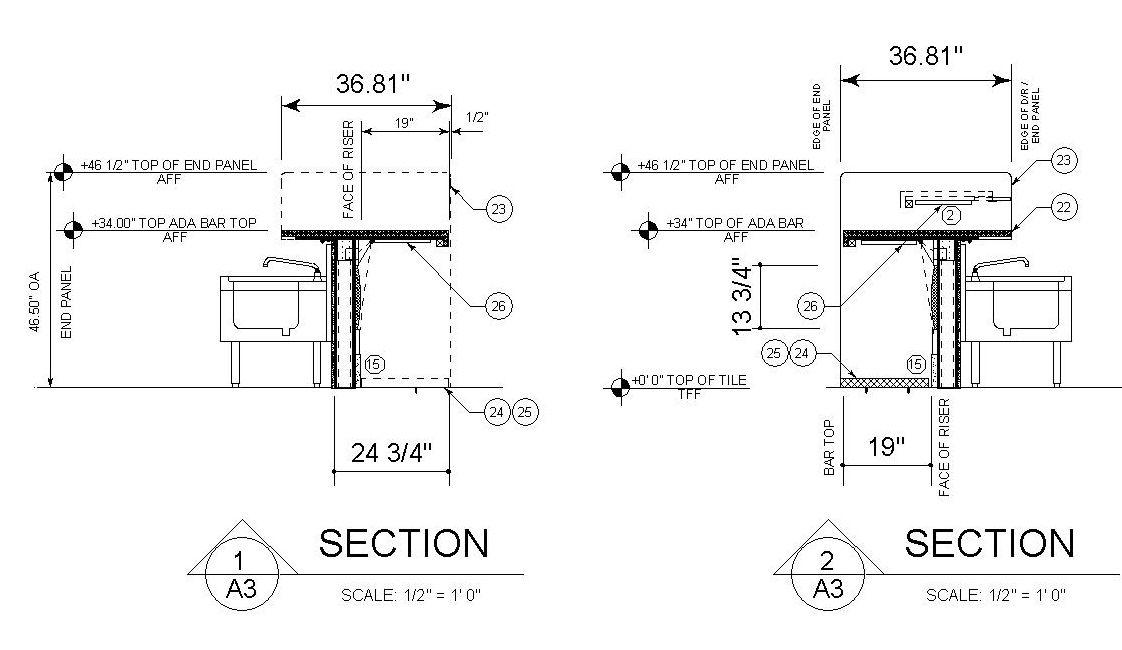 Learn The Latest Ada Bar Design Standards In 5 Minutes Cabaret Design Group Bar Design Trends And Buzz Commercial Bar Bar Design Bar Design Restaurant
