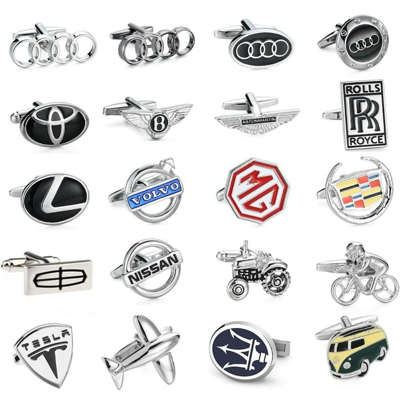 Xkzm Auspicious Dy High Quality Brass Luxury Car Logo Themed Cuffilinks Men S Gents Audi Volvo Toyota Lexus Mg Luxury Car Logos Logo Buttons Car Logos