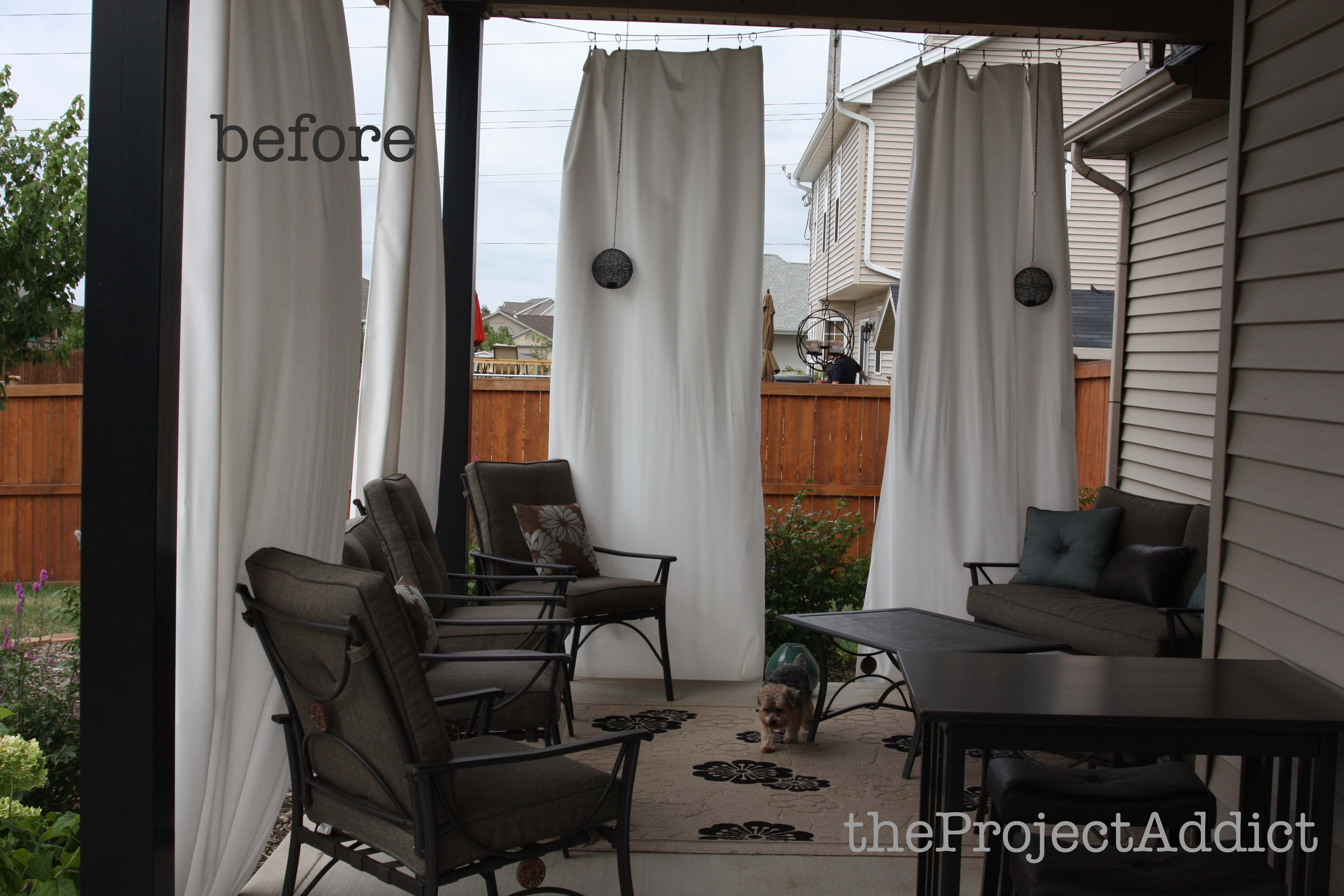 Diy outdoor curtains - How To Make Your Own Diy Outdoor Curtains And Secure Them So They Won T