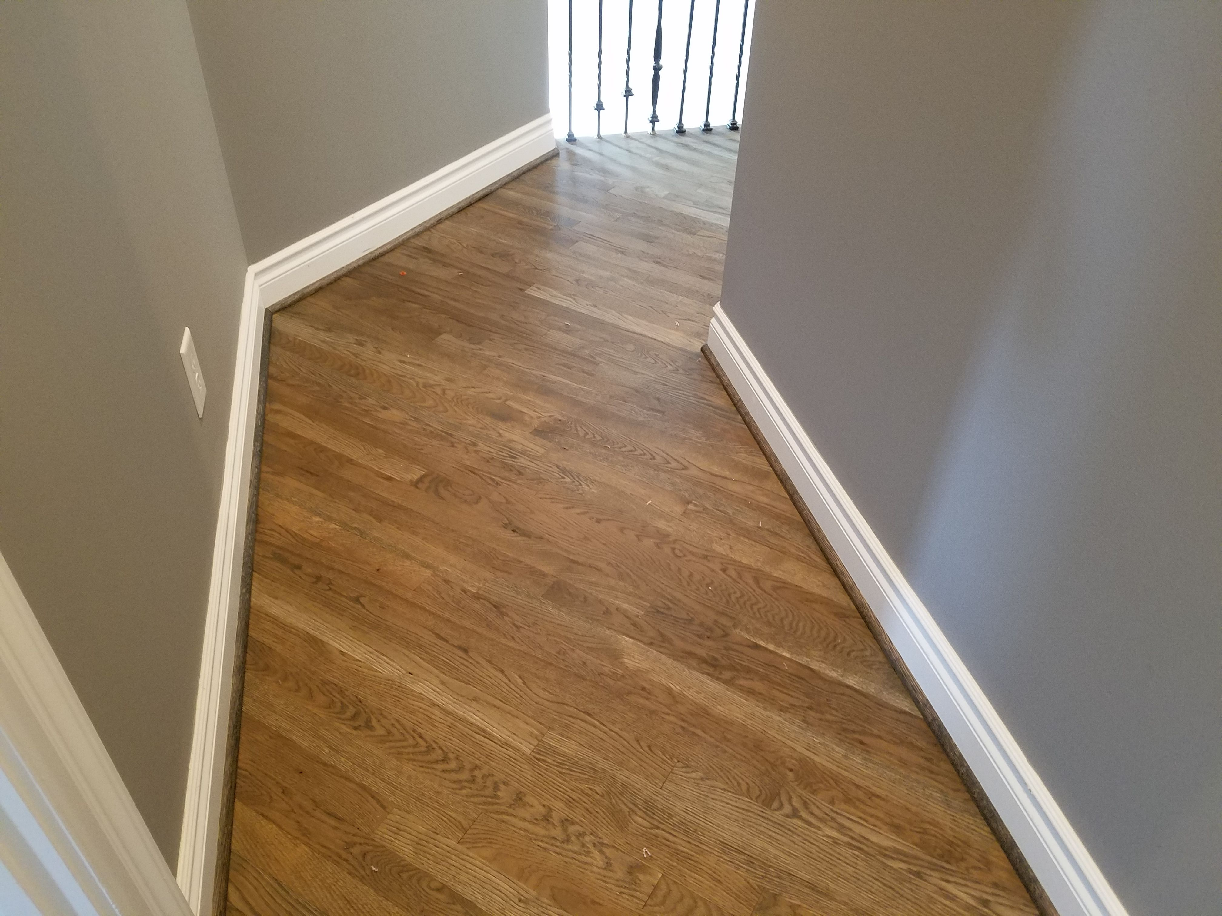 Bona Driftwood Stain On 2 1 4 White Oak Hardwoods Oak Hardwood Hardwood Floors Hardwood