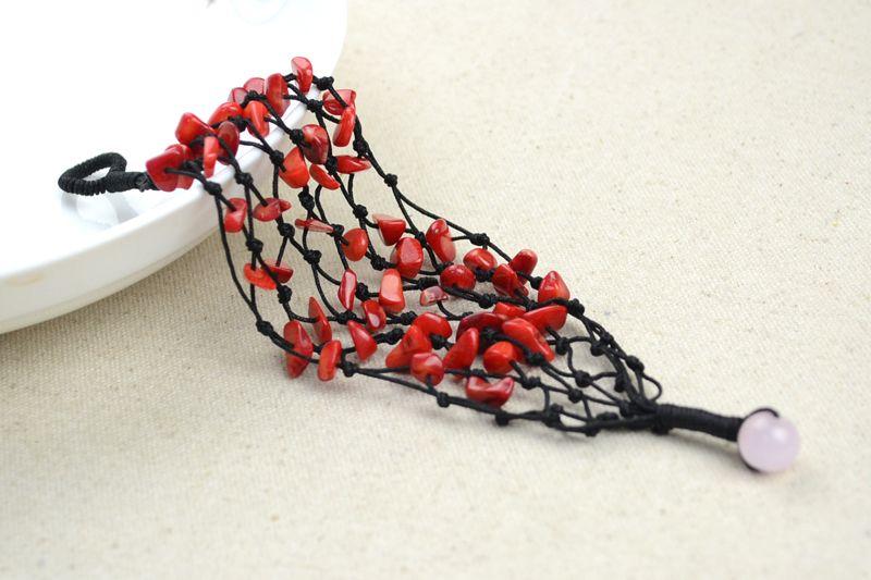 Pulsera de coral rojo