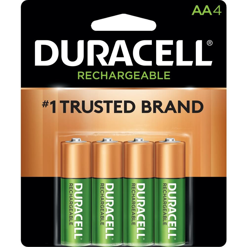 Duracell Coppertop Rechargeable Aa Nimh Battery 4 Pack 004133366155 The Home Depot Duracell Nimh Battery Nimh Battery Charger