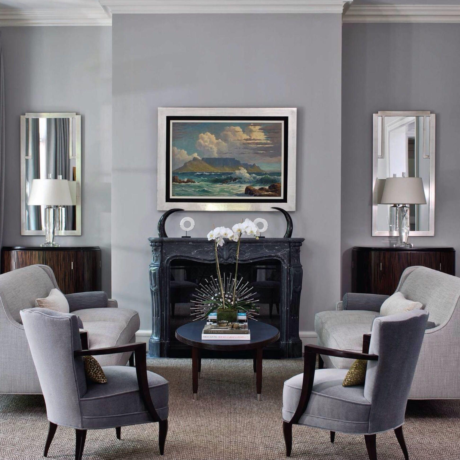 chicago townhouse grey living room - blaine johnson - interiors magazine