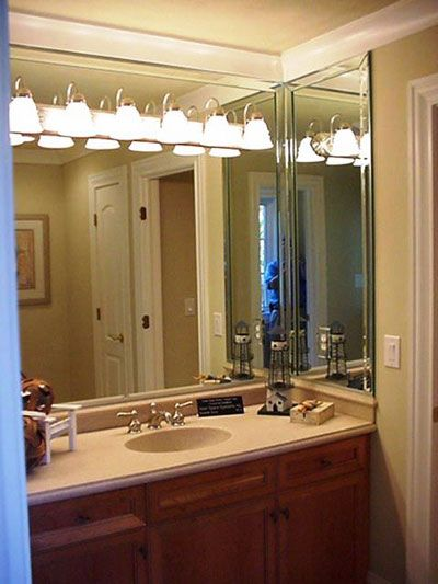 Vanity Light Installed On The Mirror Google Search Powder Room
