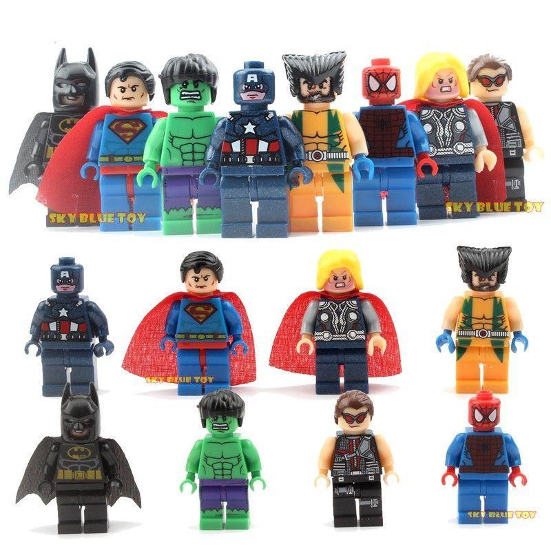 8 PCs marvel Avengers spider-Man LEGO endless War Hulk figurine Set