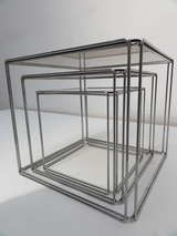 Rare Set Of Max Sauze Isocele Nesting Tables 1970 Nesting Tables Metal Nesting Tables Minimalist Side Table