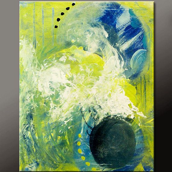 Original Abstract Art Huge 9pc Custom Made to Order by wostudios ...