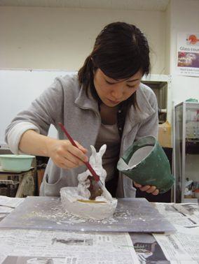 Японские стеклянные куколки Masayo Odahashi.