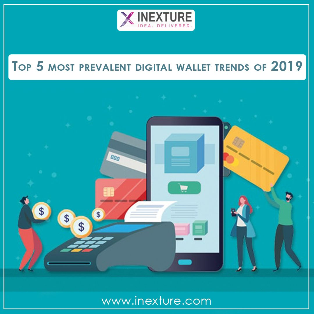 Top 5 most prevalent digital wallet trends of 2019!  1. Smart speaker payments  2. Sound waves-based payments  3. Cryptocurrency wallets  4. Near-field communication (NFC) payments  5. International remittance  For more stuff like this  Log onto www.inexture.com  #digitalwallet #digitalwallettrends #smartspeakerpayments #Soundwavesbasedpayments #cryptocurrencywallets #nearFieldCommunications #InternationalRemmittance #inexture