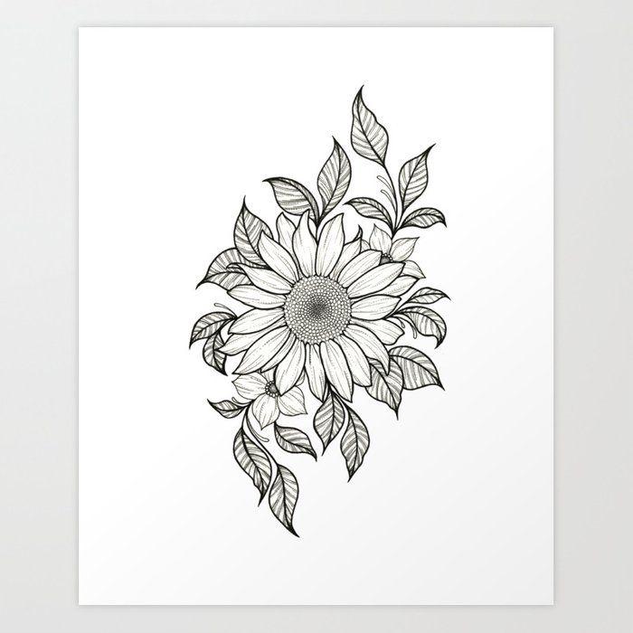 Sunflower Art Print by stratlacyart