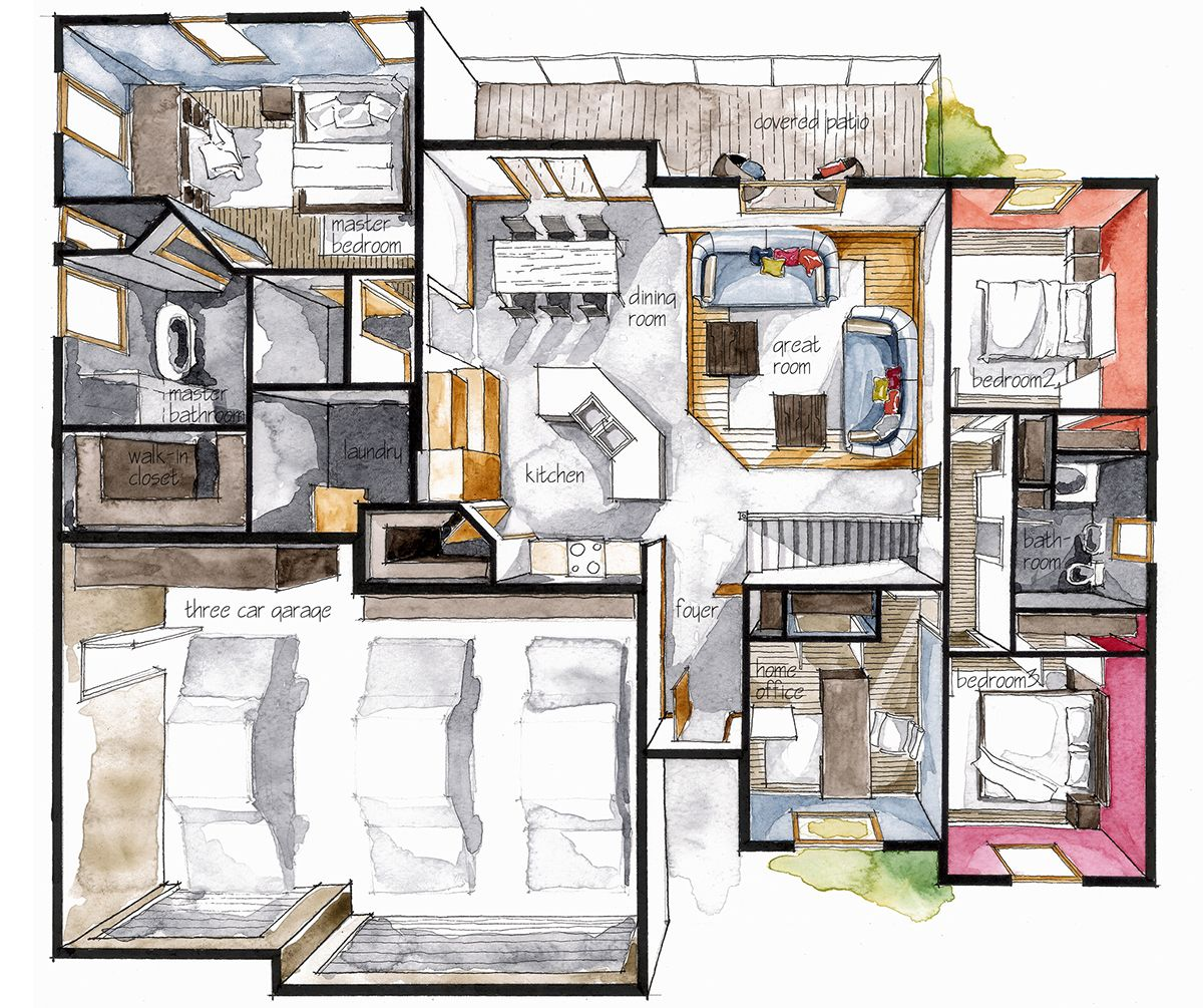 Interior Sketch Architectural Floor Plans House Layout Plans Small House Elevation Design