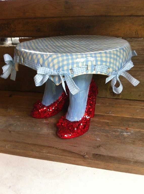 Dorothy Wizard of Oz red Ruby Slippers Cake Stand & Dorothy Wizard of Oz red Ruby Slippers Cake Stand | Angel wings ...