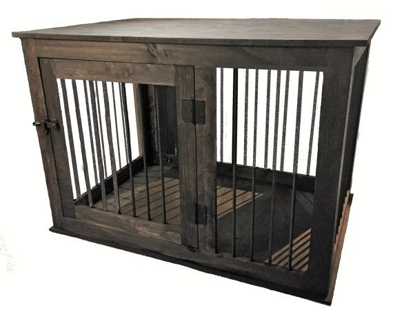 Custom Wood Dog Crate Kennel Furniture Extra Large, Handmade in ...