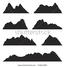 Image Result For Mountain Range Silhouette Mountain Silhouette White Background Silhouette
