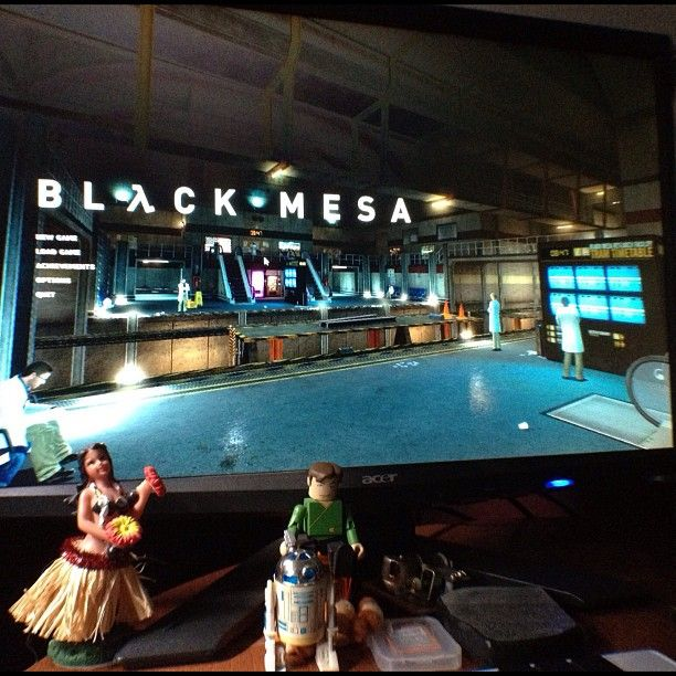 Black Mesa has arrived - a total conversion (updated textures, assets, etc) of Half Life. And it's awesome!