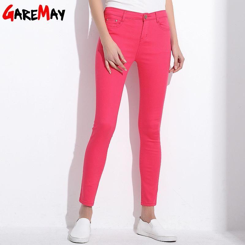 0e7436e0f99c GAREMAY Women's Candy Pants Pencil Trousers Fall Khaki Stretch Pant Slim  Jeans Trousers