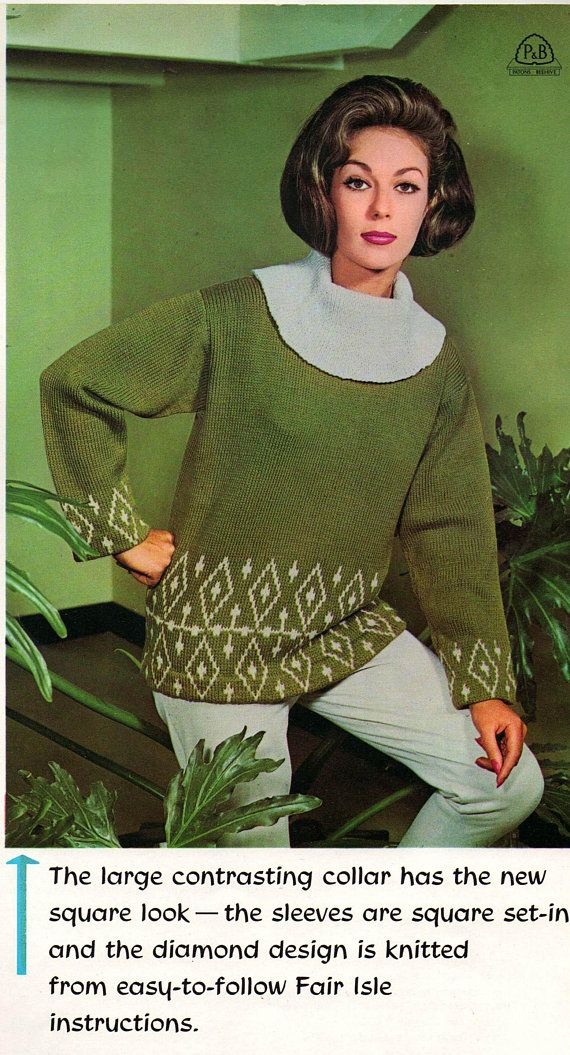 Patons Style Knits Vol 25 Womens 60s Vintage Knitting Patterns ...