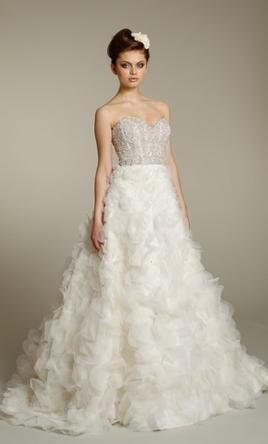 Used Lazaro Wedding Dress 3161 Size 4