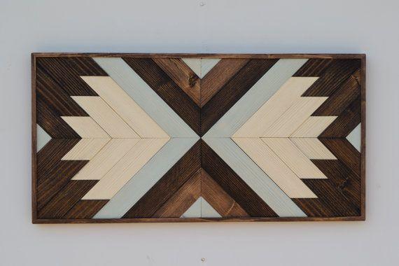 Wood Wall Art - Contemporary Geometric Wood Wall Hanging - 2 ft x 1 ...